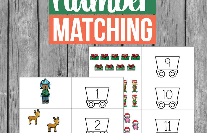 Free Christmas Number Matching Printables