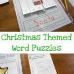 Free Christmas Themed Word Puzzles