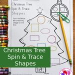 Free Christmas Tree Spin & Trace Shapes