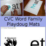 Free CVC Word Family Playdough Mats