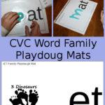 Free CVC Word Family Playdough Mats