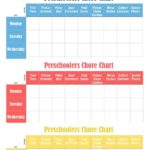 Free Preschoolers Chore Charts