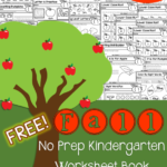 Free Fall No-Prep Kindergarten Workbook