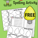 Free Christmas Lights Spelling Activity Printables
