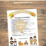 Printable Thanksgiving Analogies with Answers – Logic for Kids
