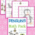 Free Penguins Math Pack (PreK-Middle School)