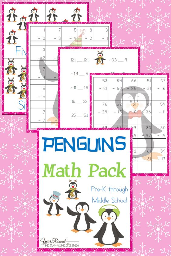 Math is one of those subjects I have my kids work on almost daily. It seems that when we take long breaks from math they really struggle. But sometimes you just have to mix it up a little. This adorable Penguins Math Pack is perfect for the winter months! :: www.thriftyhomeschoolers.com