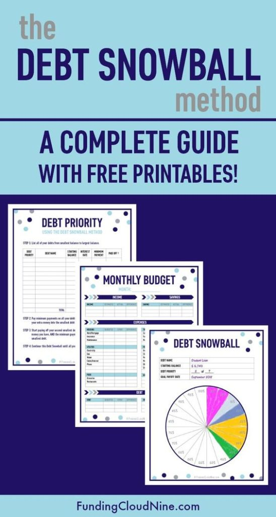 Getting a hold of your debt and working to pay it off little by little may not work, but if you have the income, the debt snowball method does work! Grab these free printables to help make the planning and process a little easier. :: www.thriftyhomeschoolers.com