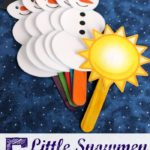 Free 5 Little Snowmen Puppets