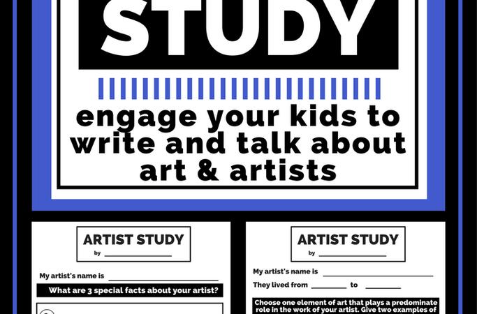 Free Printable Artist Study