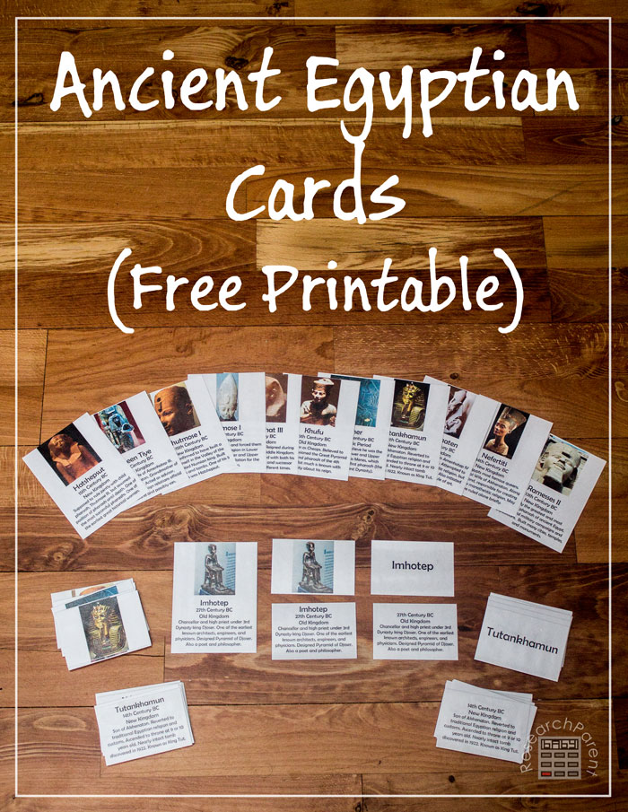 These free Ancient Egyptian printable cards describe 12 of the most famous Ancient Egyptians.They can be used in a variety of ways for a wide range of ages. :: www.thriftyhomeschoolers.com
