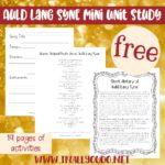 Free Auld Lang Syne Mini Music Study