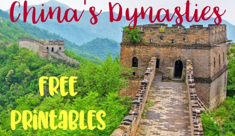 Learn about China's Dynasties – Free Printables