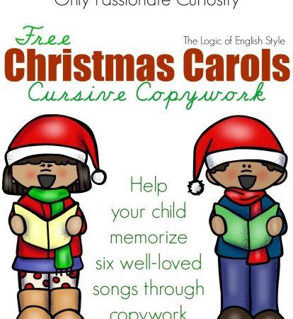 Free Christmas Carols Copywork