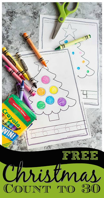 If I can combine their learning with coloring, their day is completely made. This Free Christmas Counting Booklet is perfect for little ones the month of December! :: www.thriftyhomeschoolers.com