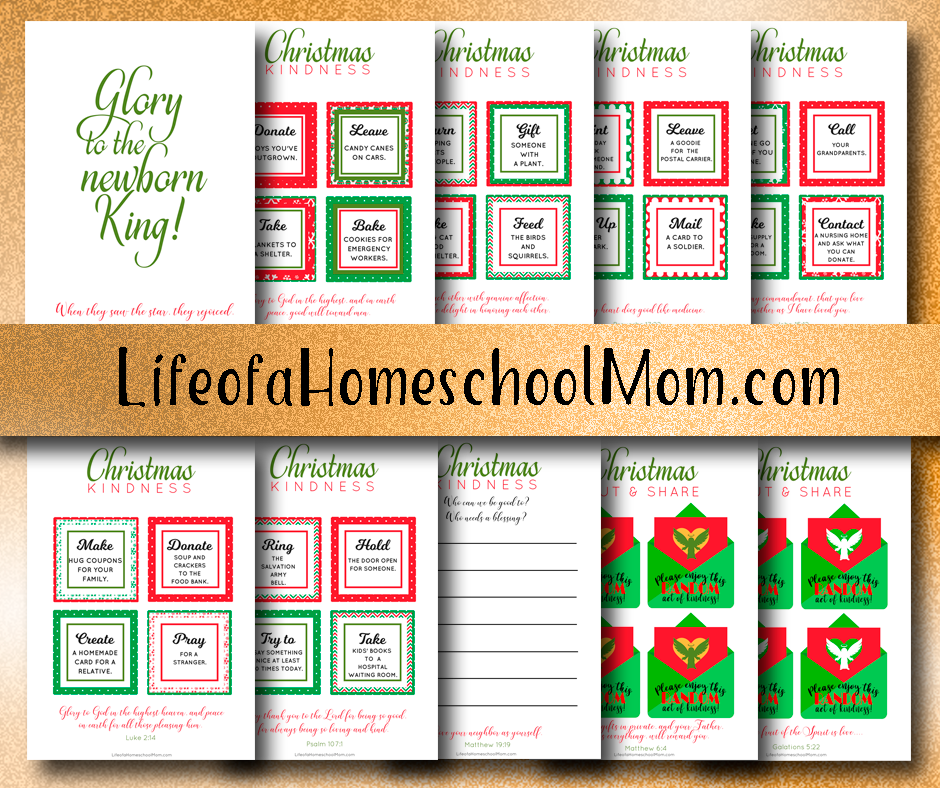 Want to spread the gift of kindness with your family this year, but don't know where to start? Now you can! Grab this Free Christmas Kindness Calendar today! :: www.thriftyhomeschoolers.com