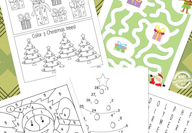 Free Christmas Printables for Preschool & Kindergarten