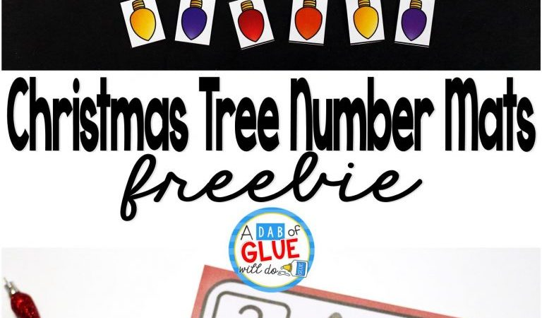 Free Christmas Tree Number Mats