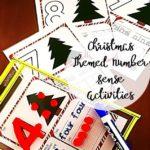 Free Christmas Themed Math Playdough Mats