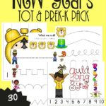 Free New Years Eve Tot & PreK Pack