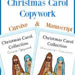 Christian Christmas Carol Copywork Pack Freebie