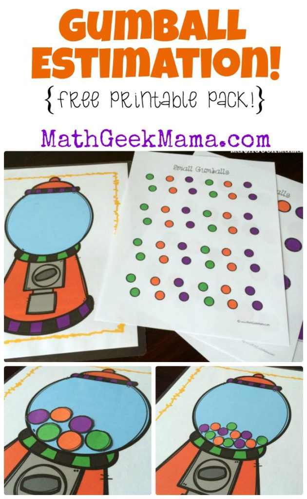 I don't know about you, but estimating is one of the hardest concepts for my little kids to understand. So I try to make it fun and this fun Gumball Estimation Printable Pack is perfect! :: www.thriftyhomeschoolers.com