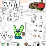 Free Letter V Worksheets