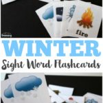 Free Winter Sight Word Flashcards