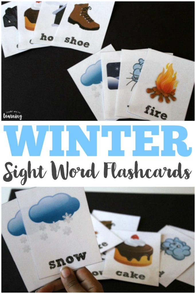 If you're working on sight words with your kids, these printable winter flashcards are a fun and simple way to work on sight words with your kids. :: www.thriftyhomeschoolers.com