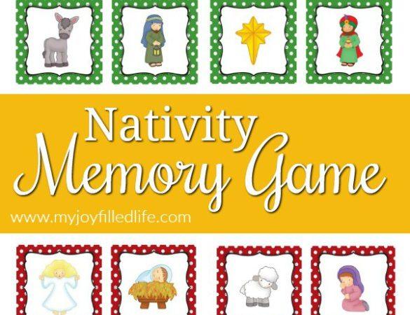 Free Printable Nativity Matching Game