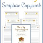Free Nativity Scripture Copywork