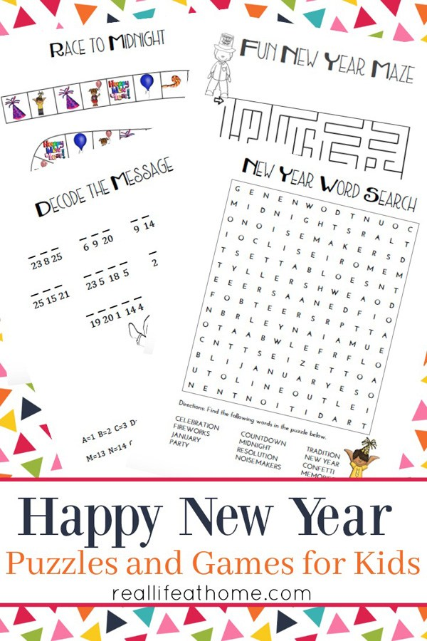 The new year is quickly approaching and this printable New Year's Game & Puzzles Pack is sure to be a hit with the kids. :: www.thriftyhomeschoolers.com
