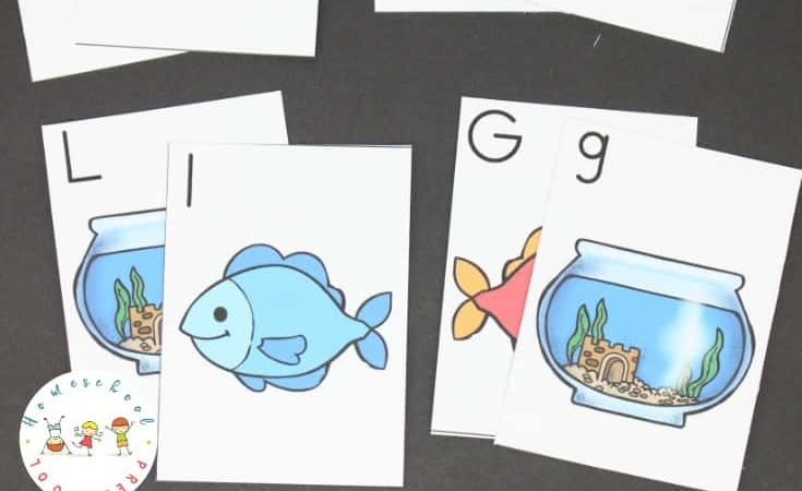Free One Fish Two Fish ABC Matching