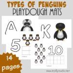 Free Penguins Playdough Mats