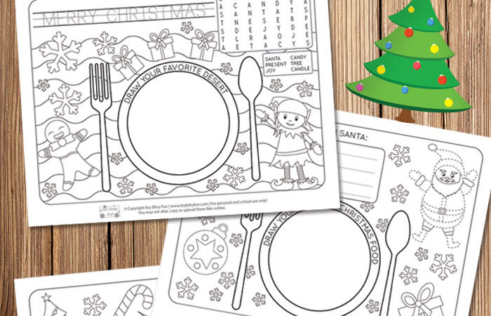 Free Christmas Themed Placemats