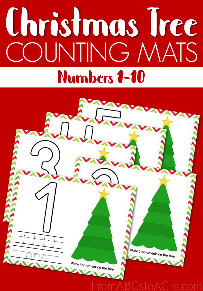 Counting mats are so much fun for little ones. These printable Christmas Tree Counting Mats are perfect for the holiday season! :: www.thriftyhomeschoolers.com