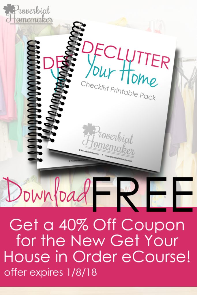 Decluttering your home isn't an easy task, but in order to maintain your sanity as well as a house that runs semi-smoothly, it is necessary. This free Declutter Your Home checklist printable pack that will help you get started. :: www.thriftyhomeschoolers.com