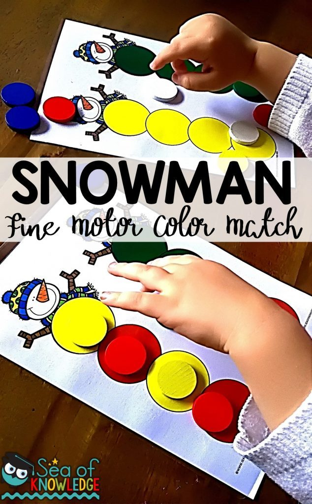 Now kids can build their own snowman, whether you have snow or not. Okay...maybe not a real one, but a fun and colorful one with these Snowman Fine Motor Color Matching printables. :: www.thriftyhomeschoolers.com