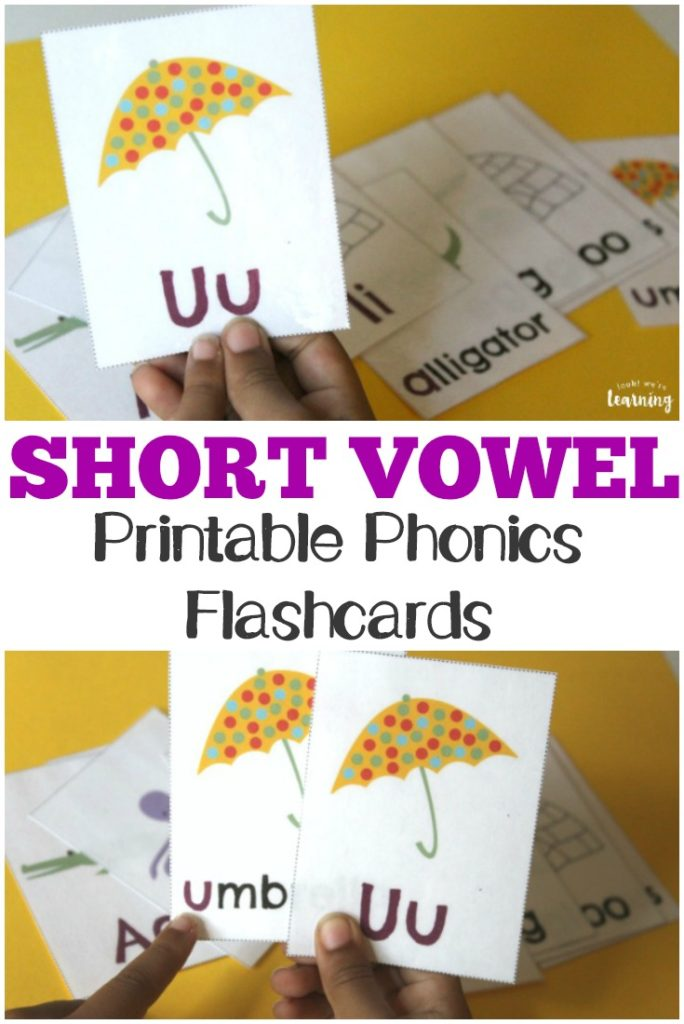 Make learning short vowel sounds fun with these printable phonics flashcards! :: www.thriftyhomeschoolers.com