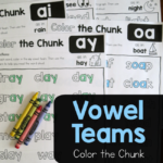 Free Vowel Teams Color the Chunk Printables