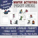 Free Winter Activities Emergent Readers