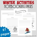 Free Winter Activities Notebooking Pages