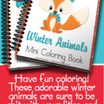 Free Winter Animals Mini Coloring Book