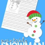 Free Printable Winter Snowman Writing Prompt