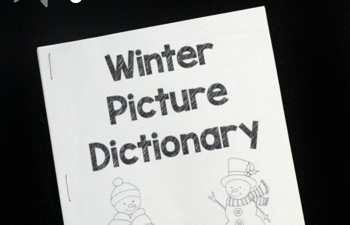 Free Printable Winter Dictionary for Preschoolers