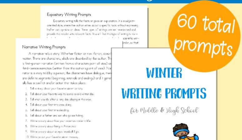 Free Middle & High School Winter Writing Prompts