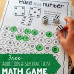 Addition & Subtraction Math Game Freebie