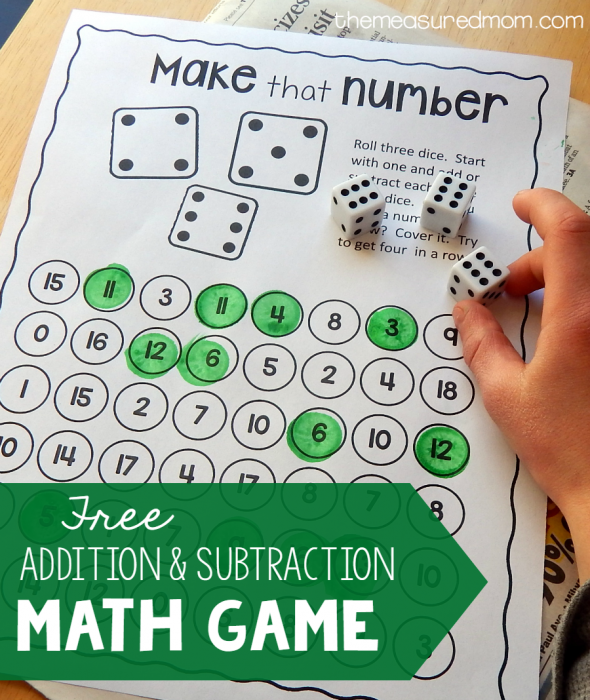 My kids have typically understood addition easier and quicker than subtraction. But, a fun game to help them master addition and subtraction is the best way to help them learn, in my opinion, and this printable one is perfect! :: www.thriftyhomeschoolers.com
