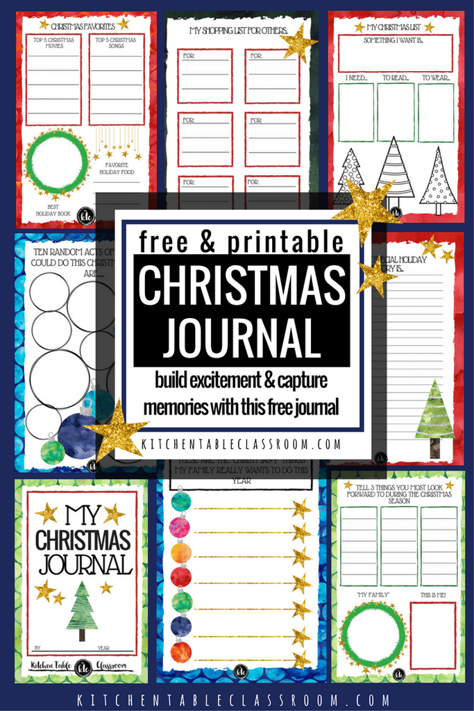 This printable Christmas Journal is a great way for your kids (or you) to treasure the memories of Christmas each year. They can remember not only the gifts they received, but the time spent with family, their bucket list for that year and more! :: www.thriftyhomeschoolers.com
