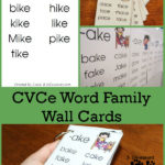 CVCe Word Family Wall Cards Freebie